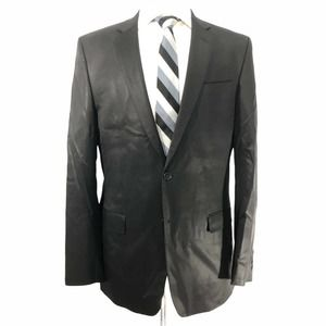 VERSACE COLLECTION Size 42 Black Wool Sport Coat